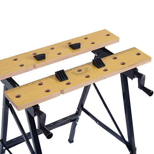 Portable Multipurpose Workbench Table Folding - Toolsempire Adjustable Work Table Sawhorse Vise Heavy Duty Stainless Steel Legs Lightweight Repair Tools For Workshop Light Work by Toolsempire (Image #2)