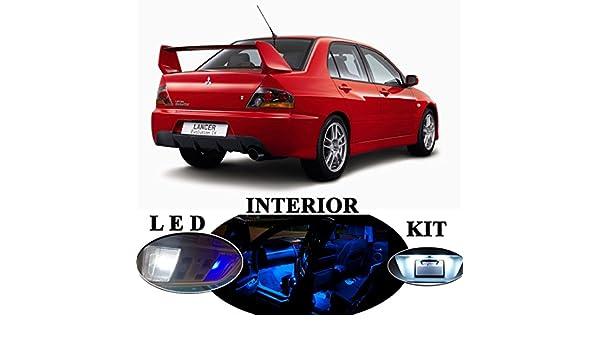 Amazon.com: LED lights for Mitsubishi Lancer Evo 8 9 Premium Blue LED Package Upgrade - Interior + License plate / Tag (9 pieces): Automotive