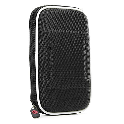 Electronic Cigarette Case - Compatible with - Mvari-Stick Ecig Mod - Variable Voltage/Semi-hard Shell (Black Nylon) & Karabiner-Styled Hook for Keys