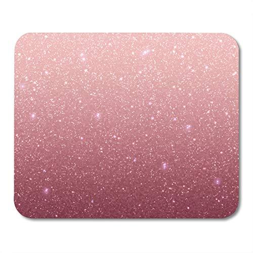 Emvency Mouse Pads Pink Sparkle Rose Sequins Purple Blush Wedding Luxury Shimmer Pattern Mousepad 9.5