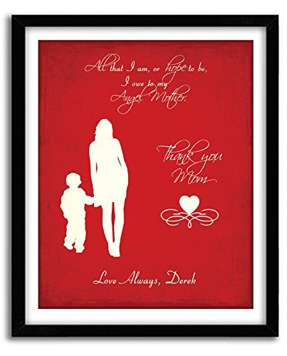 Birthday Gift For Mom Mothers Day Artwork From Son Personalized Custom