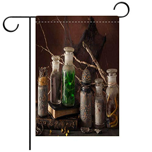 (BEICICI Artistically Designed Yard Flags, Double Sided Witch Apothecary Jars Magic Potions Halloween Decoration Decorative Deck, Patio, Porch, Balcony Backyard, Garden or)