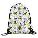 ZMLSJY Drawstring Bag Sea Shells Marine Polyester Fabric Backpack For Men Women School