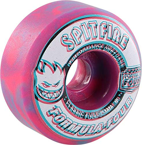 Spitfire Wheels Formula Four Classic Full Overlay Swirl Pink/Blue Skateboard Wheels - 53mm 99a (Set of 4)