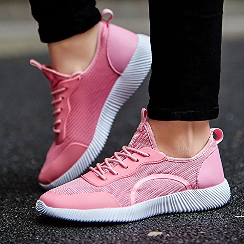 Pink Men Gomnear Athletic Unisex Women Fashion Breathable Sneakers Shoes Sports Lightweight Casual Couple fRqp7w