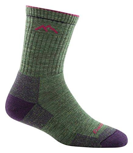 Darn Tough Women's Coolmax Micro Crew Cushion Socks , Moss Heather, (Womens Coolmax Athletic Socks)