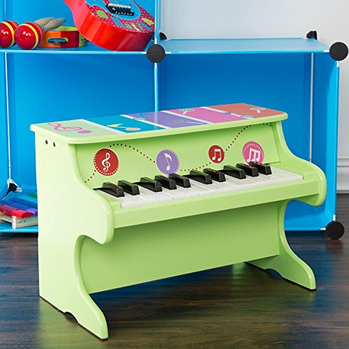 Encourages Development and Musical Creativity With This Colorful and Durable Musical Toy Piano,Great Gift Idea for Kids for Tons Of Fun and Excitement,Green/Multicolor by Generic
