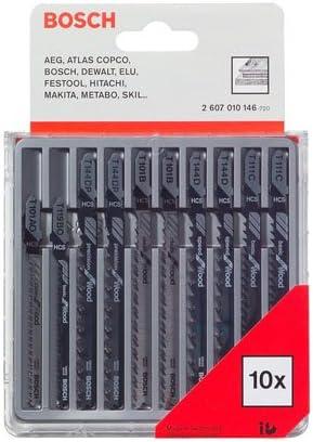 Bosch Professional 2607010146 Bosch 2607010146-Cuchilla de Sierra caladora (Pack, Set de 10 Piezas
