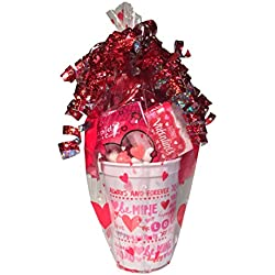 Sweethearts Candy Valentines Day Gift Baskets Balloons Chocolate Heart Cupid Pink Scarf Girls Gifts