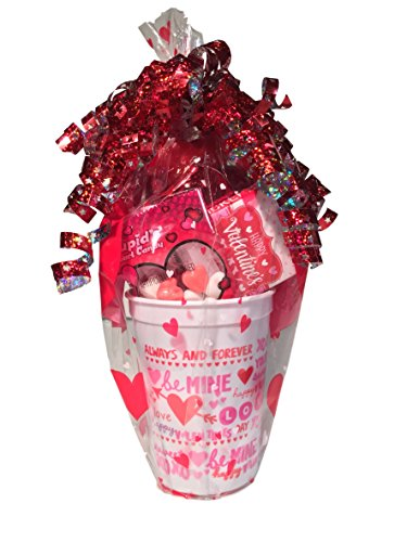 Sweethearts Candy Valentines Day Gift Baskets Balloons Chocolate Heart Cupid Pink Scarf Girls Gifts (Valentines Day Gifts For Girls)