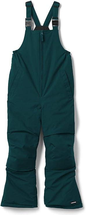 Lands' End Kids Waterproof Iron Knees Squall Snow Bibs Snow Pants in green