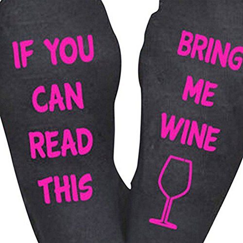 Funny Unisex Men Womens If You Can Read This Bring Me A Glass Of Wine Beer Coffee Socks For Xmas - See Me Glasses