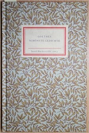 Goethes Schönste Gedichte Amazonde Bã¼cher