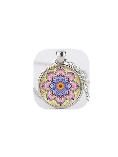 Yoga collares colgante Om Símbolo Budista Zen cristal Bloom ...