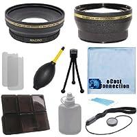 Pro Series 72mm 0.43x Wide Angle Lens + 2.0x Telephoto Lens with Deluxe Lens Accessories Kit For Nikon AF-S DX NIKKOR 18-200mm f/3.5-5.6G ED VR II Zoom, Nikon AF-S NIKKOR 24-85mm f/3.5-4.5G ED VR Lens, Nikon AF-S NIKKOR 58mm f/1.4G Lens