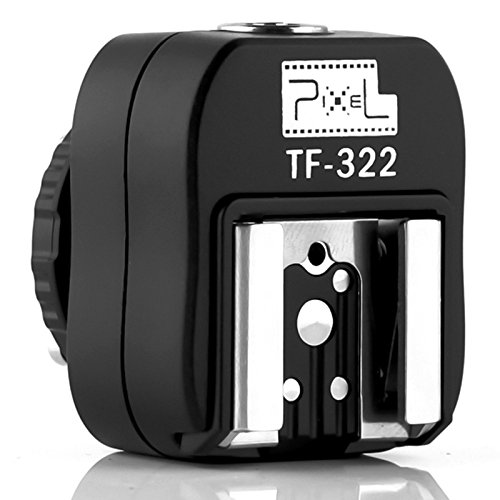 Pixel TF-322 e-TTL Flash Hot Shoe Adapter with Extra PC Sync Port for Canon DSLRs and - Nikon Ttl Converter