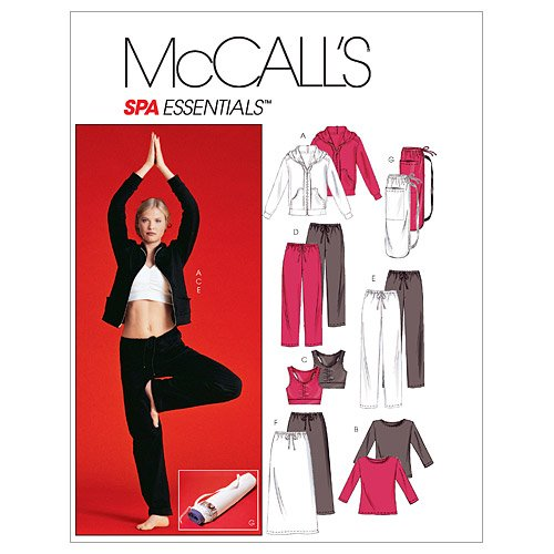 McCall's Patterns M4261 Misses'/Miss Petite Unlined Jacket, Top, Bra, Pants in 2 Lengths, Skirt and Bag, Size Z (LRG-XLG) ()