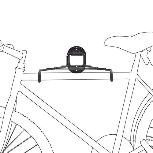 Relaxdays Fahrrad Wandhalterung Platzsparend, Schwarz, 10017700