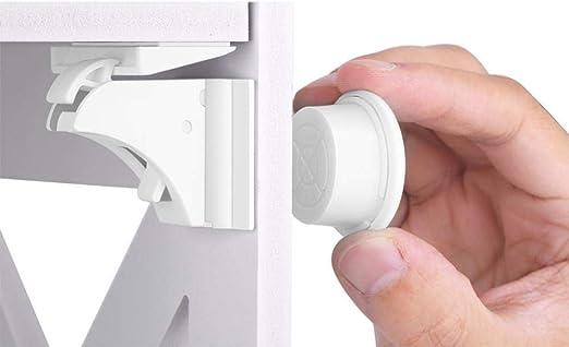 c/ómoda 10 cerraduras y 2 Llaves im/án Invisible yuyte Cerradura de Seguridad para beb/és Cerradura de casillero Puerta de gabinete Fusible para ni/ños para cocinas