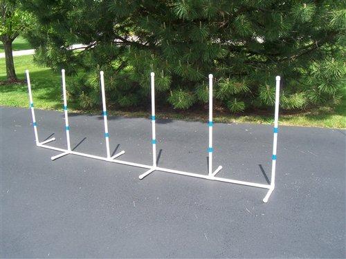 Agility Gear Fixed Weave Poles (6 pole set) by Agility Gear