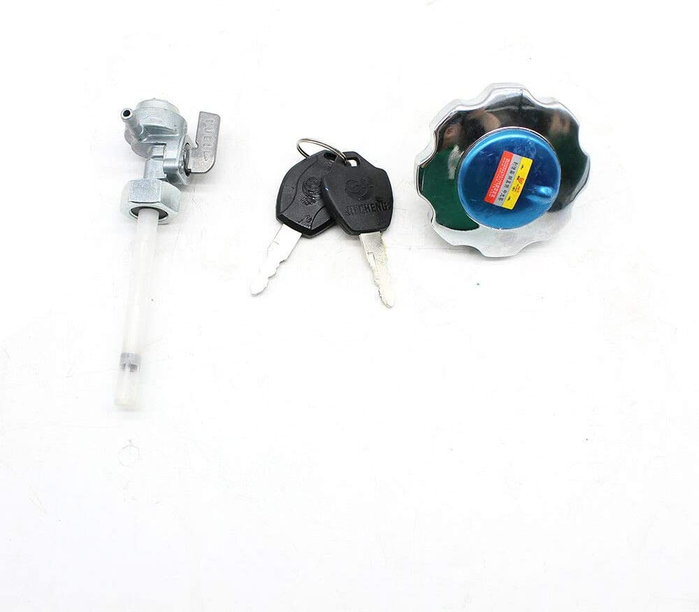Universal 2.4Gallon 9L Motorcycle Fuel Gas Tank Set Fuel Tank Cap Switch+Fuel Tank Cover+2 x Keys