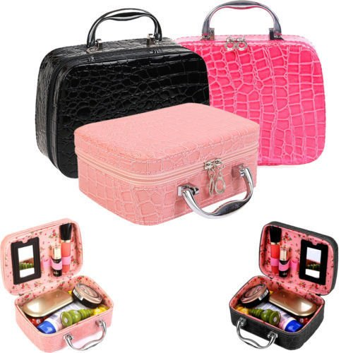 Women Pro Makeup Travel Storage Bags Case Jewelry Box Cosmetic Handbag Organizer