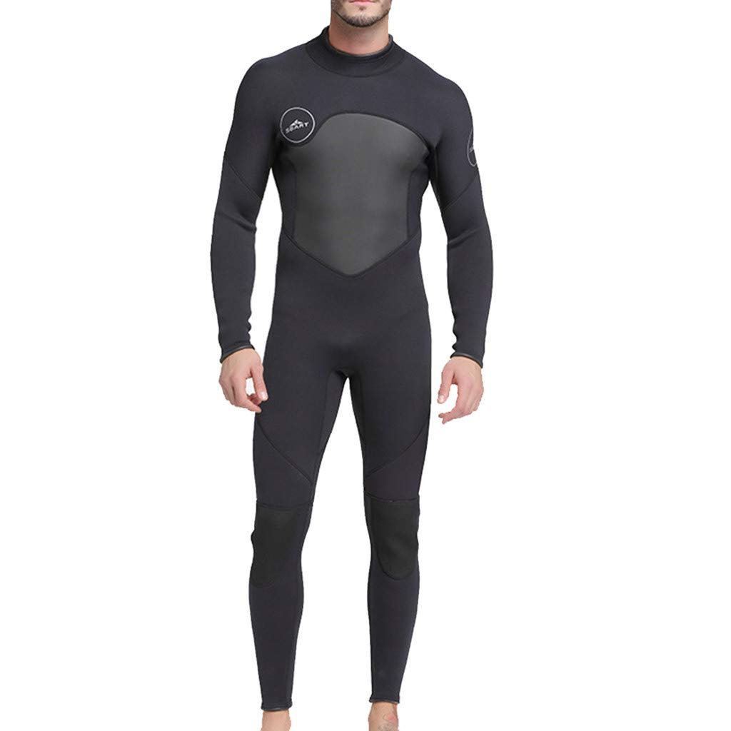 Allywit Neoprene Wetsuit Men Full Suit Scuba Diving Thermal Wetsuit 3MM Long Sleeve Spearfishing Suit Black by Allywit (Image #1)