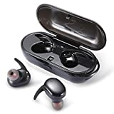 Wireless Headphones, JoyGeek Wireless Earbuds Bluetooth Headphones, True Wireless Touch Control Stereo HiFi Headset Waterproof Built-in Mic/Portable Charger case iPhone/iPad Most Android Phones