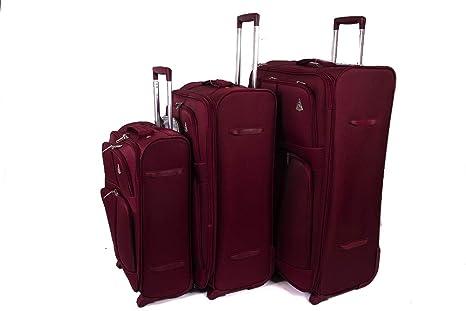 Juego de Tres Bolsas de Viaje Aerolite de 2 Ruedas: Amazon ...