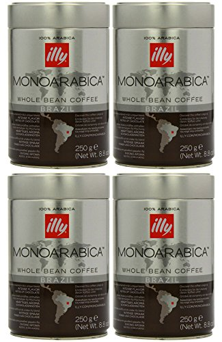 Illy Monoarabica Whole Bean, Single Origin Brazil Coffee Beans 8.8 Ounce (Pack of 4) (Ultra Pure Coffee Bean compare prices)