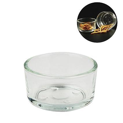 Pawaca - Cuenco de cristal transparente para acuario, cuenco de agua y comedor, cuenco