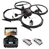 Drones with Camera-DBPOWER FPV 720P HD WiFi Camera Drone,RC Quadcotper for Beginners & Kids/Adults with 2 Batteries,Altitude Hold,Headless Mode,3D Flips,One Key Take Off/Landing