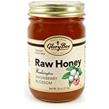 GloryBee Raw Washington Snowberry Blossom Honey, 18 Ounce
