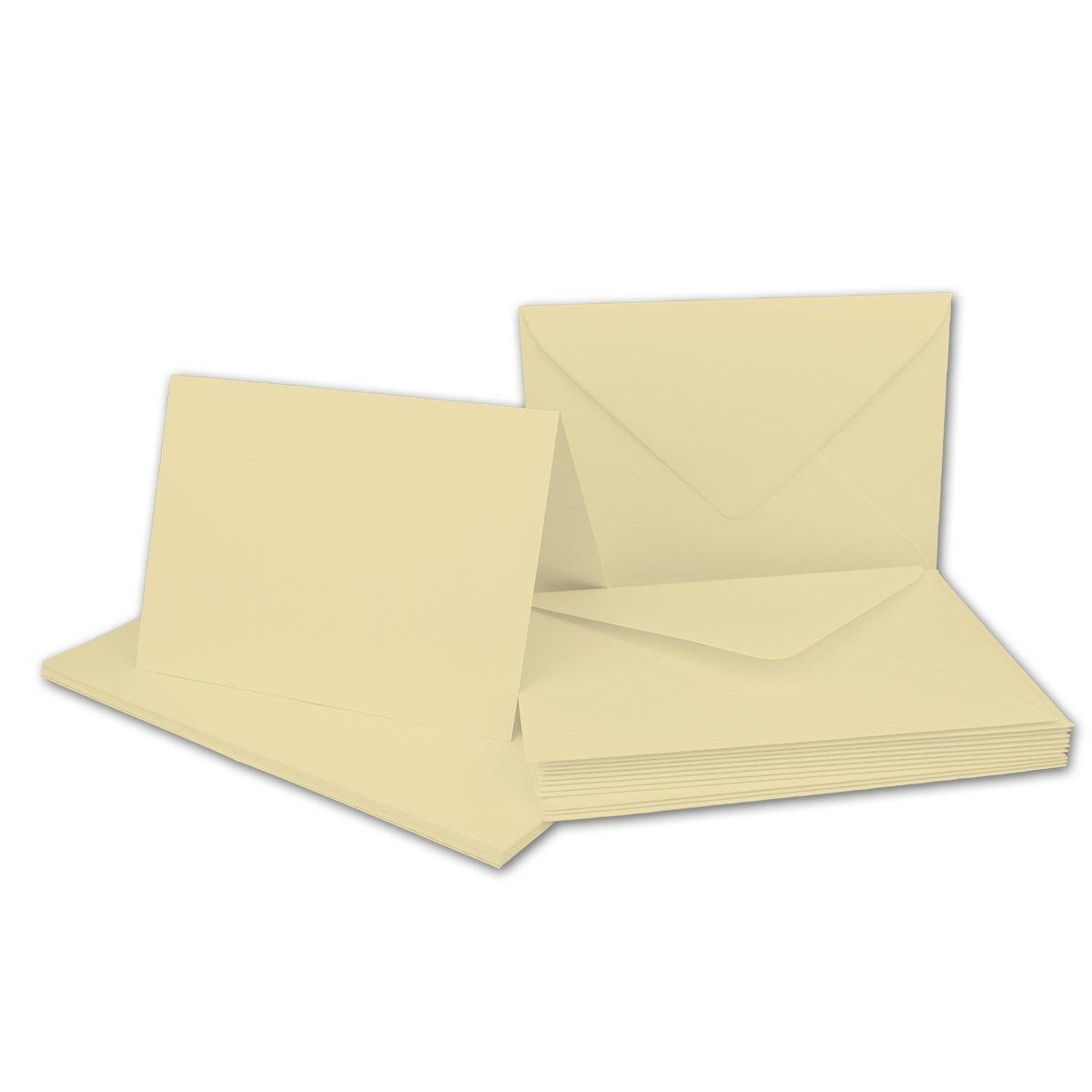 75 Sets - Faltkarten Hellgrau - Din A5  Umschläge Din C5 - Premium Qualität - Sehr formstabil - Qualitätsmarke  NEUSER FarbenFroh B07BSDQ2F6 | Verpackungsvielfalt