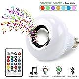 BSOD LED RGB+White Color Bulb Light E27 Bluetooth Control Smart Music Audio Speaker Lamps