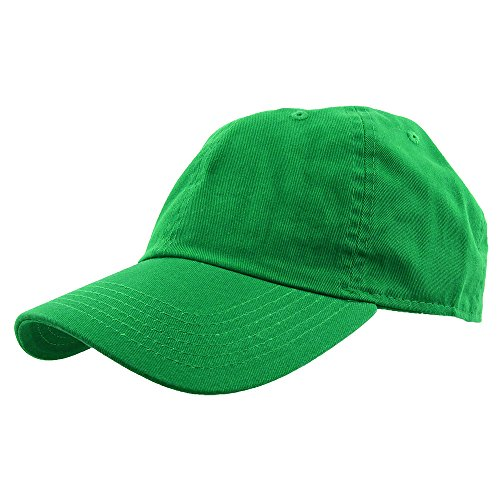 Gelante Baseball Caps Dad Hats 100% Cotton Polo Style Plain Blank Adjustable Size. 1825-KellyGreen