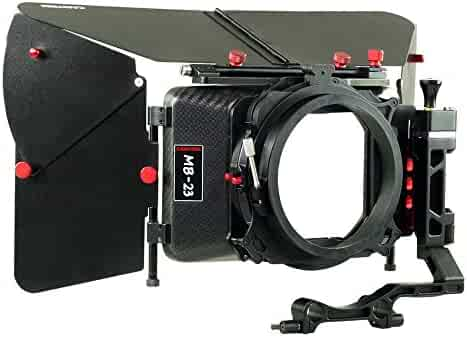 Fotga DSLR Swing-Away Matte Box Mattebox with 15mm Rod for Rail Rod Baseplate Rig Nikon D850 D750 Sony A9 A7III A7RIII A7SII A6000 A6300 A6500 Panasonic GH4 GH5 GH5s Canon EOS 5D 6D 7D Mark II III IV