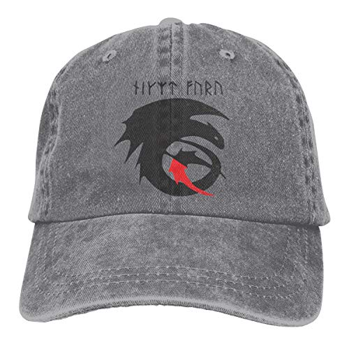 How to Train Your Dragon Adult Dad Hat Baseball Hat Vintage Washed Distressed Cap Gray]()