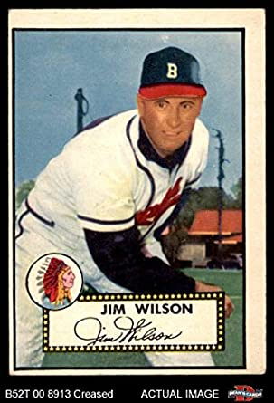 1952 Topps 276 Jimmy Wilson Boston Braves Baseball Card Deans Cards 3