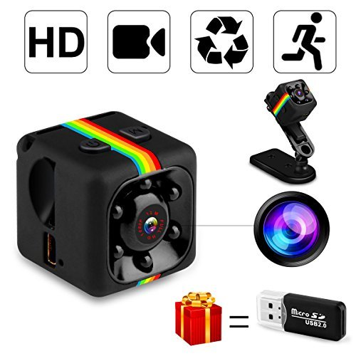 SpyCamera, MrLi HiddenCamera NannyCam MicroCamera 1080P/720P Wireless Small HD Super Portable Indoor Night Vision Motion Detection for Home Office and Car Surveillance ()