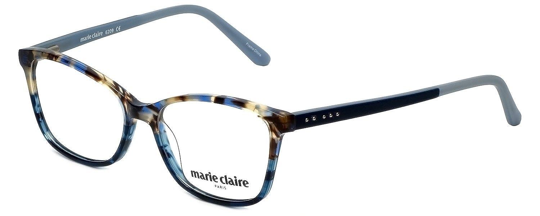 eb14de7475 Amazon.com  Marie Claire Designer Reading Glasses MC6209-BLA in Blue Amber  52mm +0.25  Clothing