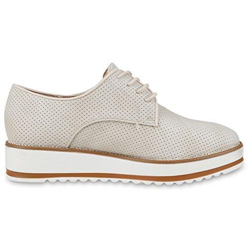 Japado - Zapatos de vestir brogues Mujer Beige