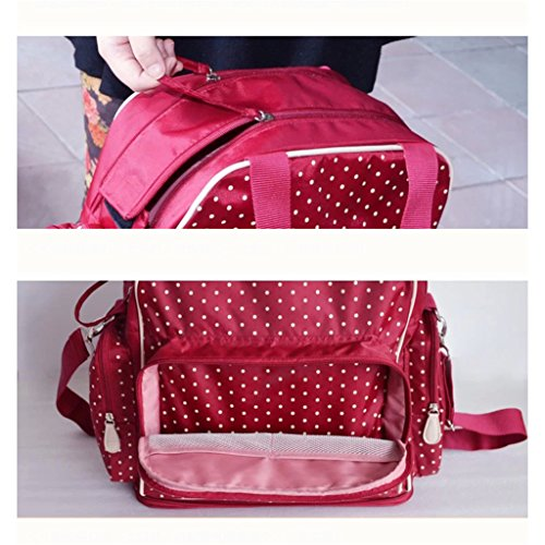 Multifuncional pañales bolso cambiador rojo Style 35 Red Style 3 Red