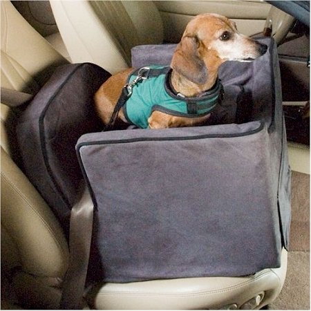 snoozer-pet-dog-cat-puppy-outdoor-lookout-ii-carrier-car-uv-secure-safety-seat-medium-anthracite-bla