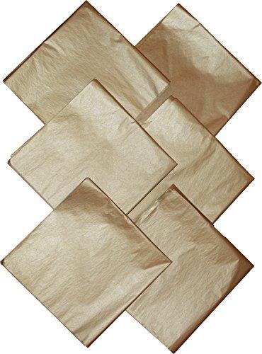 Gold Tissue Paper, Premium Metallic, 50 Sheets