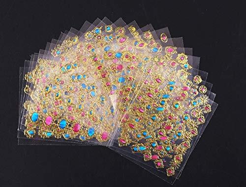 (24 Pc 3D Bronzing Nails Art Sticker DIY Tools Nail Stickers Decals Girl Princess Acrylic Designs Eminent Popular Gel Polish Roll Foils Stencils Adhesive Halloween Tool Tips)
