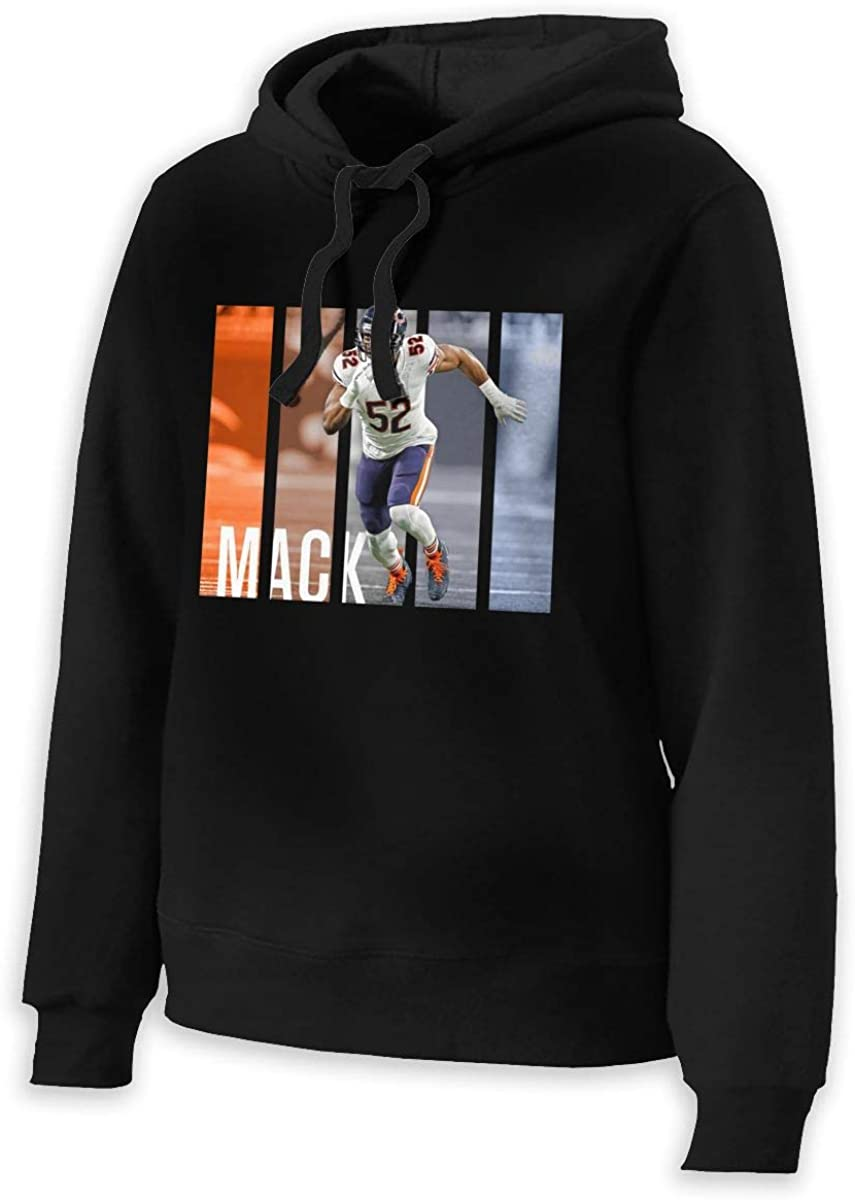 MichaelFrance Women Fashion Khalil Mack Drawstring No Pocket Hooded L Black