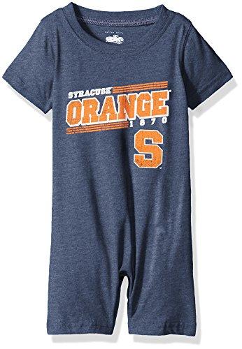 Cotton Willy NCAA Syracuse Orange Children Boys Infant Short Sleeve Romper,6M,Midnight ()