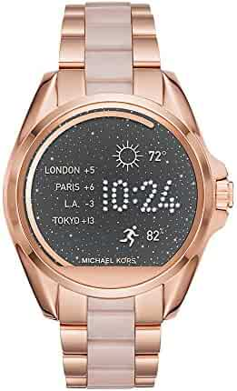Michael Kors Access, Women's Smartwatch, Bradshaw Rose Gold-Tone and Blush Stainless Steel, MKT5013