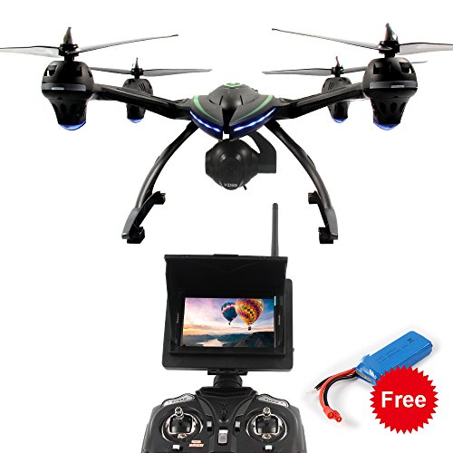 Dazhong-Quadcopter-Drone-with-58-GHz-Real-time-FPV-Transmission-Monitor-One-Key-return-Headless-24G-4Ch-6-Axis-RC-Quadcopter-Extra-Battery